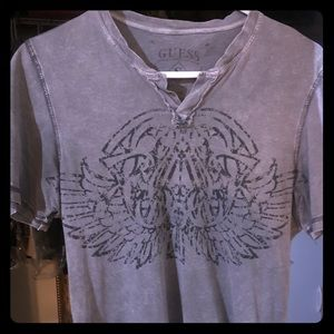 Guess V Neck Tee